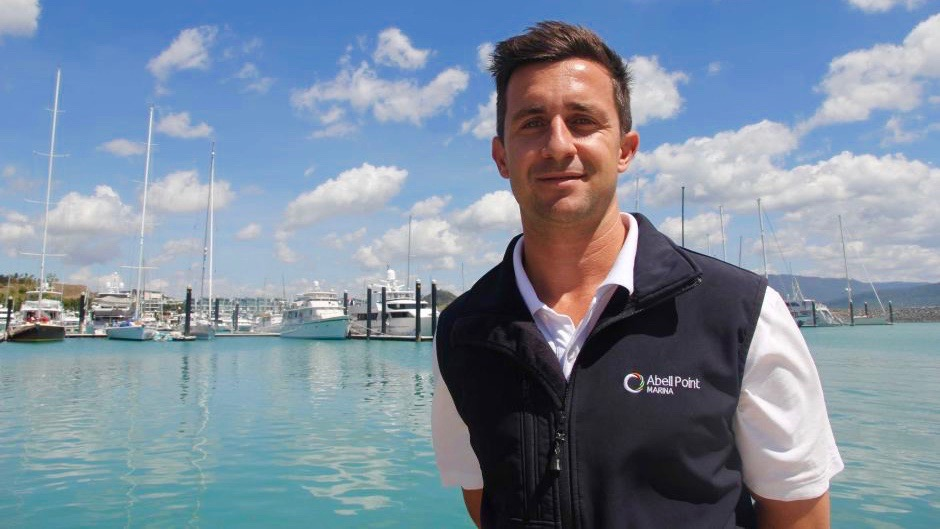 PHOTO: General Manager of Abell Pt Marina Luke McCaul